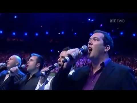 Performing the Irish National Anthem Amhrann na Fiann before Bernard Dunne's defeat to Poonsawat defending his WBA Super Bantamweight title at Dublin's O2 Arena 26 September 2009