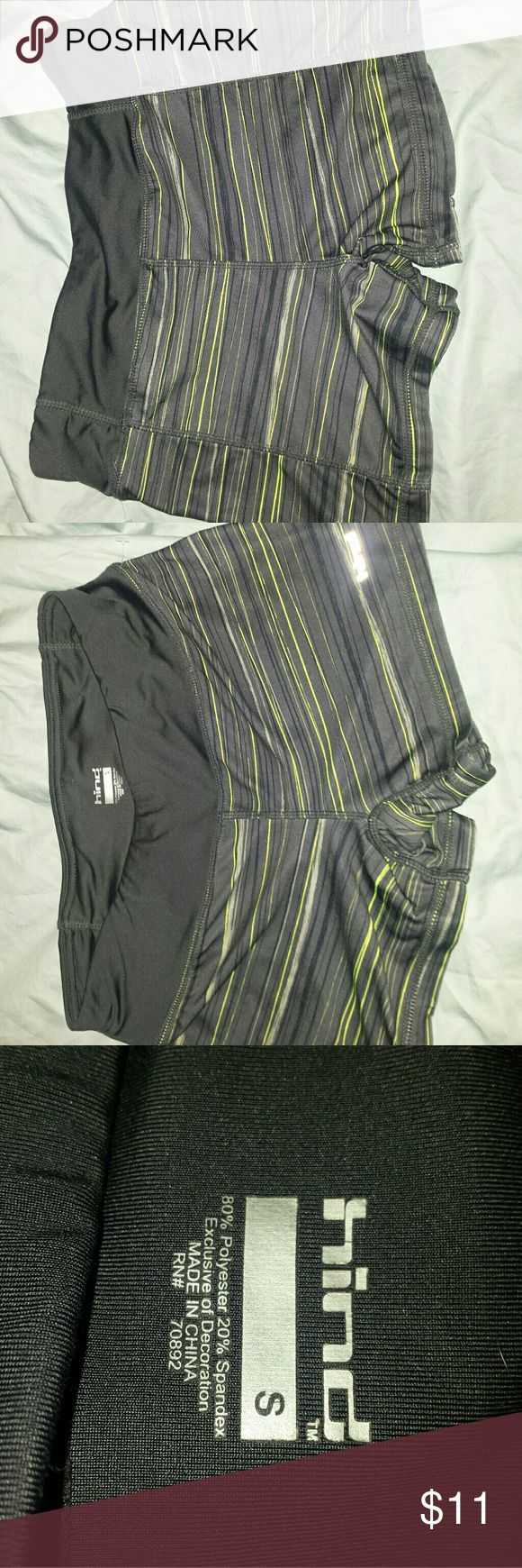 Hind exercise shorts ladies small Black with lime green hind workout shorts very nice condition. Fitness shorts. hind Shorts
