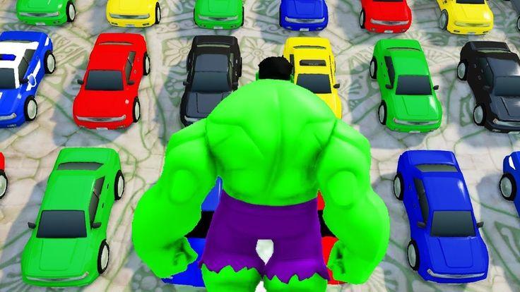 ANGRY HULK CARS SMASH PARTY ! MONSTER TRUCK Lightning McQueen CARS Finge...