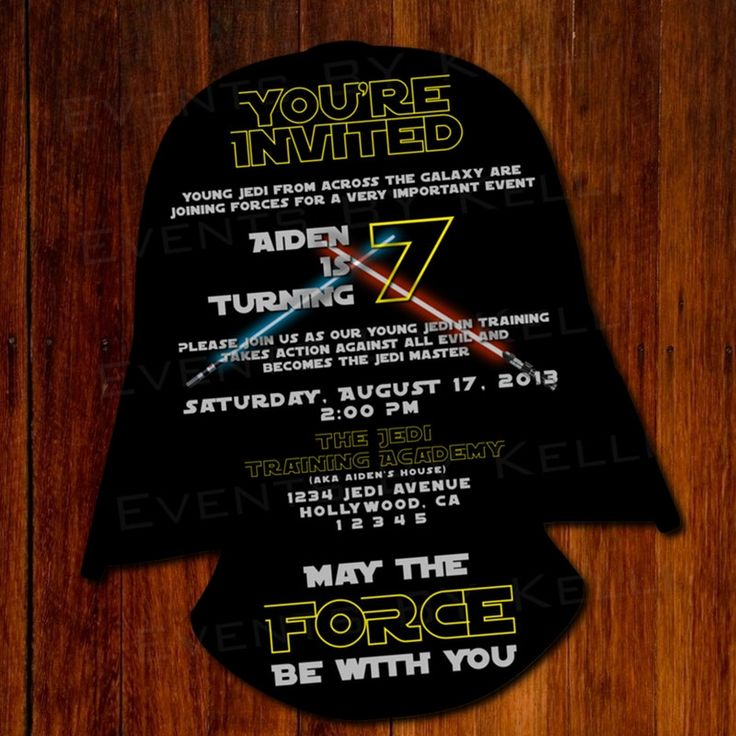 star wars silhouette birthday invitation diy by