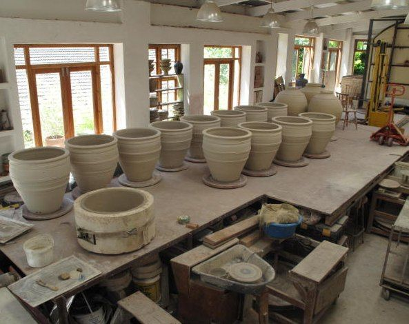 Production line of large planters - December 2009