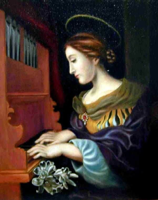 Saint Cecilia...The Patron Saint of Music...Her story is beautiful...