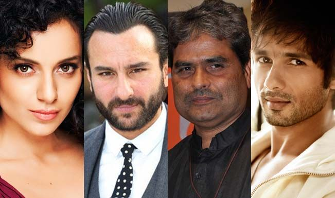 Shahid Kapoor, Saif Ali Khan and Kangana in Vishal Bhardwaj's Rangoon | InfoPaathShaala - The Information You Love.