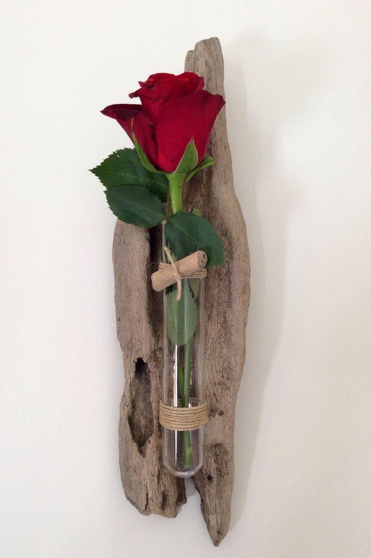 Soliflore en bois flotté par l'Atelier de Corinne