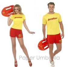 Licensed Baywatch Fancy Dress Outfit Lifeguard Costume Hen Stag 90s Party