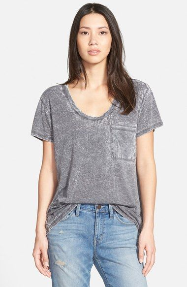 Treasure&Bond One Pocket Burnout Tee available at #Nordstrom