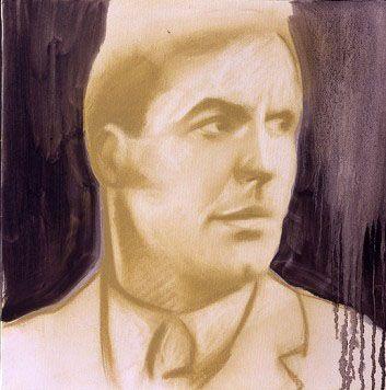 """http://piziarte.net/  Opera #disponibile presente NEL #MAGAZZINO_DI_PIZIARTE #STEFANIA_FABRIZI """"Mister Nero"""",  #olio_su_tela cm. 40 X 40 ,2003  #oiloncanvas #ritratto #painting #pintura"""