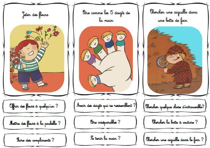 drôles d'expressions Un support adapté pour CP pour travailler les expressions idiomatiques de la Langue française.