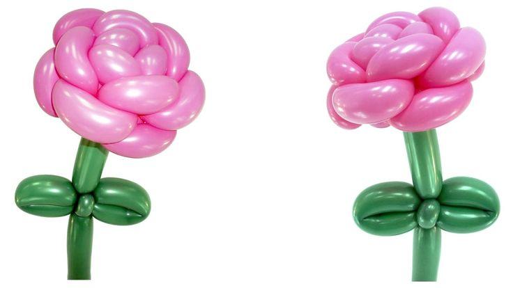 Роза из воздушных шаров / rose of balloons. Информация с сайта: https://www.sharlar16.ru/
