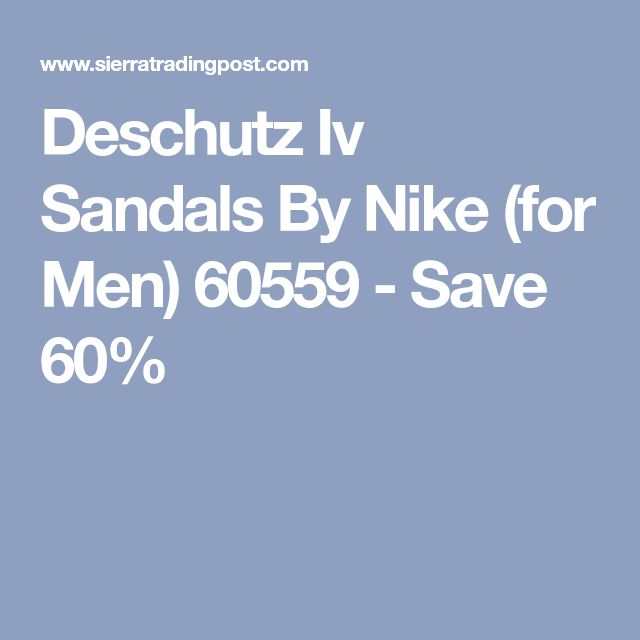 Deschutz Iv Sandals By Nike (for Men) 60559 - Save 60%