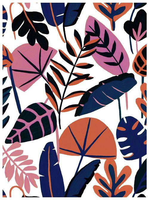 Azure Print Orange-Teal // Bella Gomez
