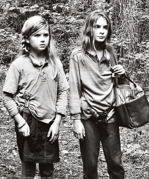 Mika and Lizzie ~ The Walking Dead Fan Art