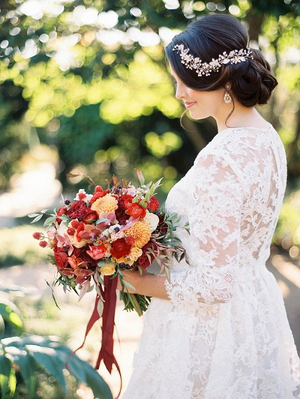 Fall Garden Wedding Shoot With Vintage Styling