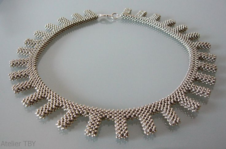 Necklace Cubic Right Angle Weave | Miyuki Duracoat Rocailles