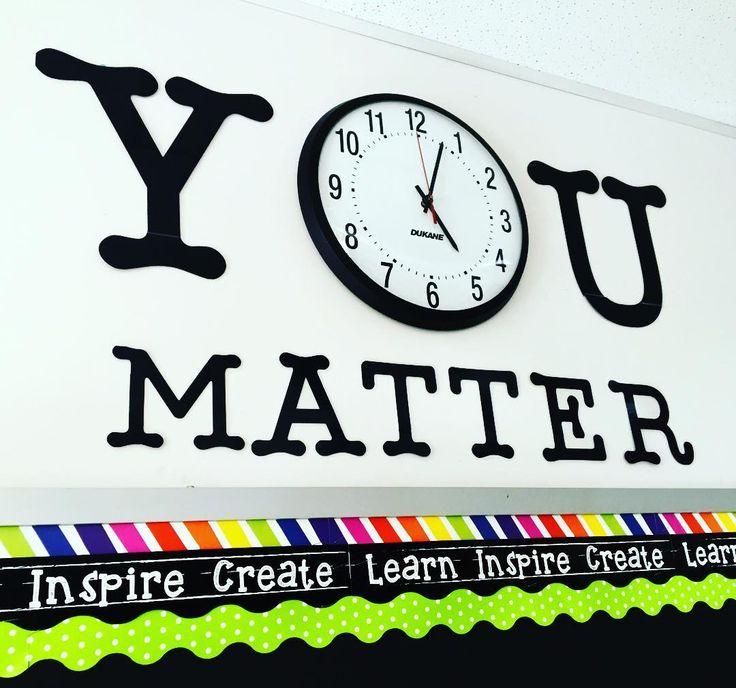 You Matter {Classroom Clock} | Emlauren Teach