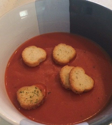 bowl of homemade tomato bisque