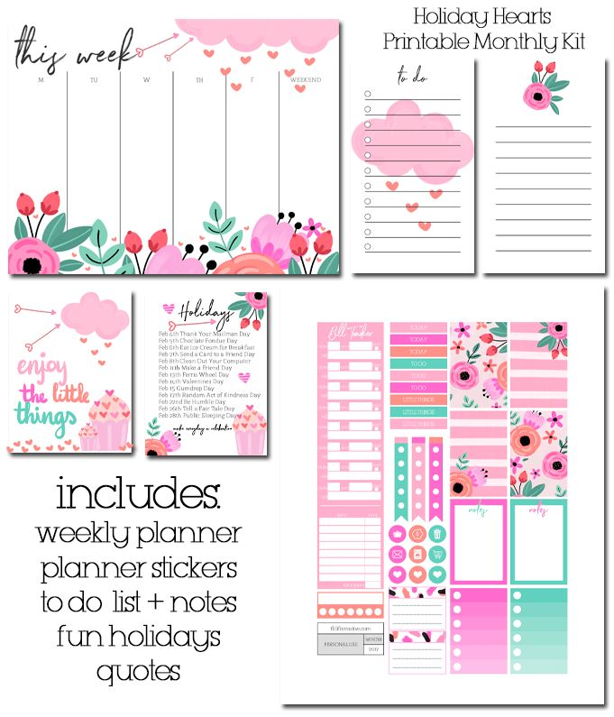 22 best Printable Monthly Kits images on Pinterest
