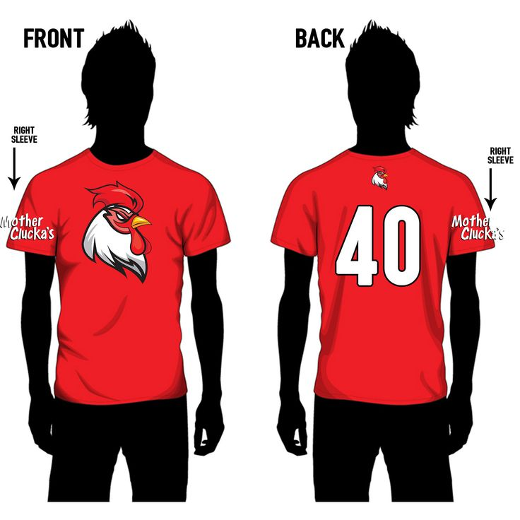 My flag football team logo and mock athletic top concept