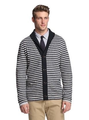 Todd Snyder Men's Shawl Striped Cardigan