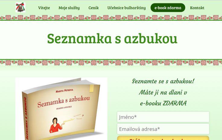 Mariya Petrova a její ebook ZDARMA: Seznamka s azbukou snadno a rychle