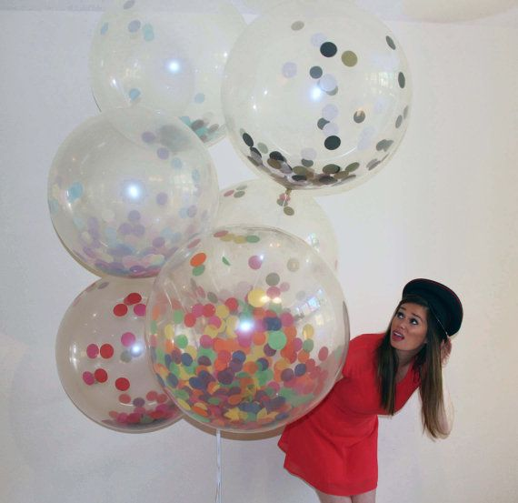 Youve seen these all over Pinterest! Now its your chance to actually get your hands on these spectacular balloons! We can fill a balloon with different colours to suit your event! If you dont see your choice in the drop down, please purchase the Custom balloons and contact us and we should be able to accommodate. The Balloon will come prefilled with your chosen confetti colours so all you will need to do is get it inflated locally. The Balloon when full size is 24 and clear so you can see…