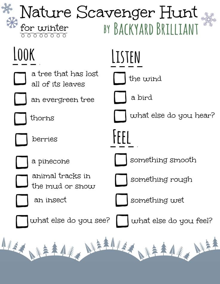 nature scavenger hunt printable | created a fun nature scavenger hunt printable (click here for PDF ...