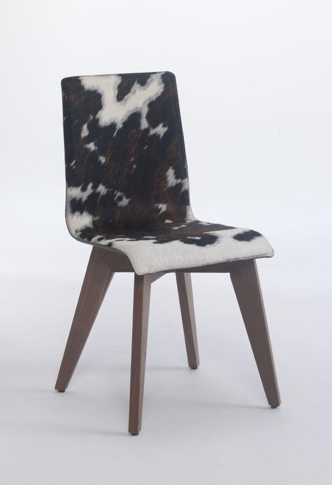 židle Toby se sedákem z přírodní kůže