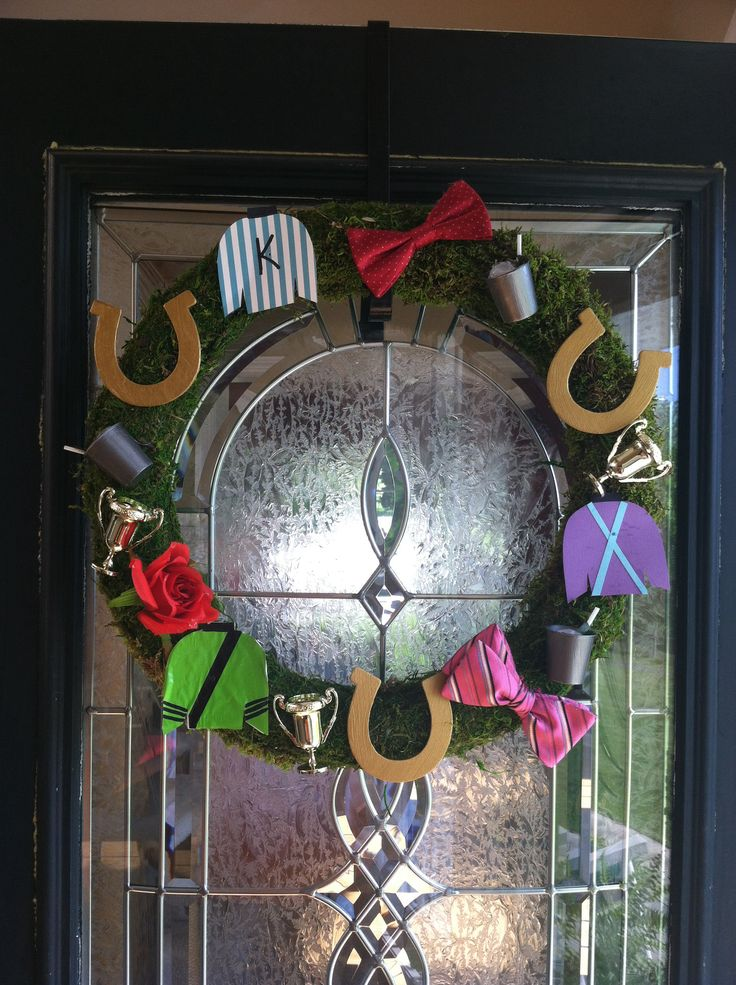 1000 Images About Kentucky Derby Wreath On Pinterest