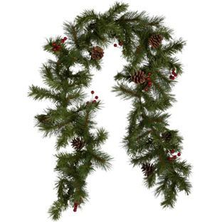 5ft berry and pine cone christmas garland at argoscouk 10