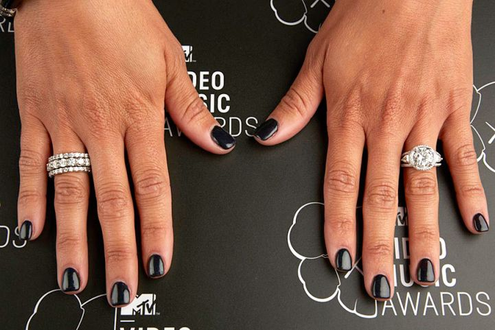 Melissa Gorga's nails at the 2013 MTV Video Music Awards on Aug. 25 in Brooklyn, NY.   MTV Photo Gallery