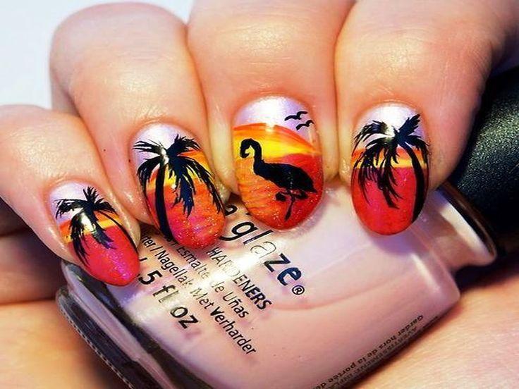 Beach Sunrise Nail Arts Ideas You Will Like - 104 Best Nail Art Images On Pinterest Make Up, Enamel And Nail Art