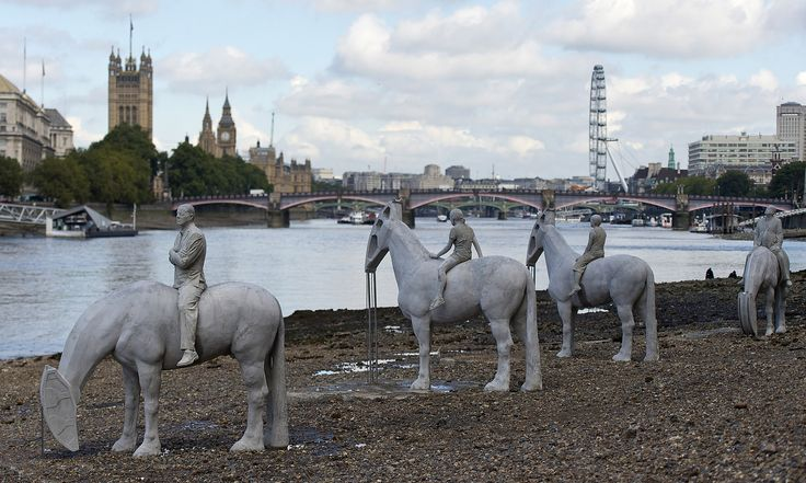 Underwater sculptures emerge from Thames in climate change protest | Art and design | The Guardian