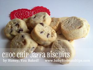 RECIPE – Choc Chip Jaffa Biscuits