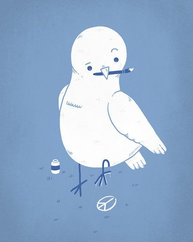 peace.Peace Dove, Graphics Design Inspiration, Super Funny, Randy Otters, Peace Signs, Peace, Graphic Design Inspiration, Cute Illustration, Painting