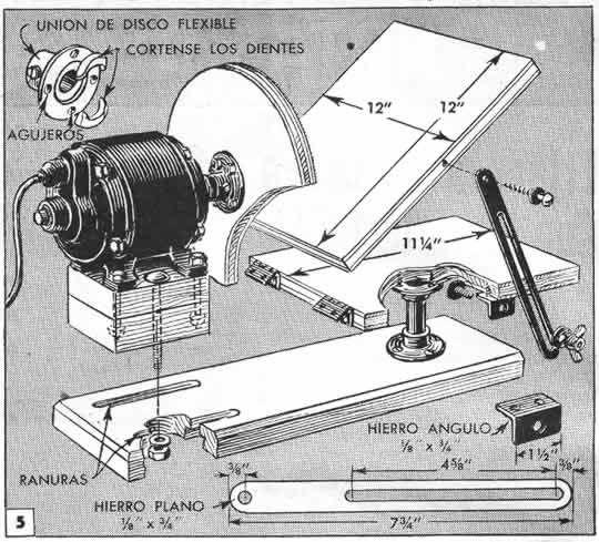 Construa uma lixadeira de disco com regulagem de inclinação da base