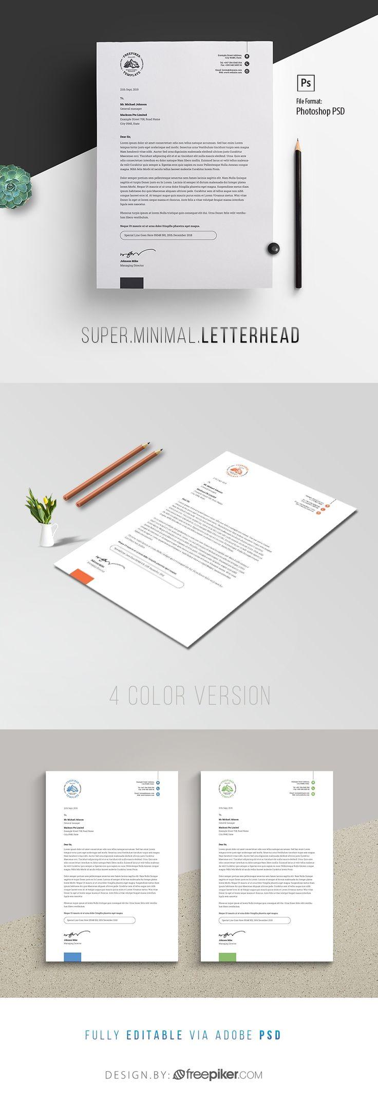 Freepiker minimalist letterhead design di 2020 (Dengan