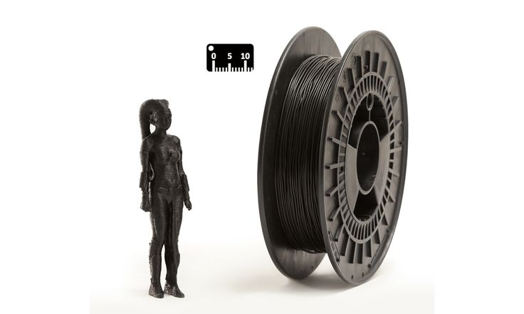 TPU FLEX by EUMAKERS by the meter (by the yard)   Color: black   Available in 1.75 mm diameter on spools of 500 g net of material, FLEX EUMAKERS is a high quality and easy-to-use filament, which is ideal for prototypes that require flexibility   Choose from the assortment of four colours (white, black, natural and silver) and colour your world with EUMAKERS   www.monzamakers.com/shop   #3dprinting #stampa3d #3dprint #tpu #flex#3dfilaments #3dfilament