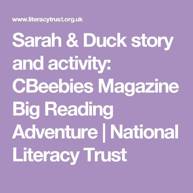 Sarah & Duck story and activity: CBeebies Magazine Big Reading Adventure | National Literacy Trust