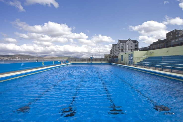 Gourock Scotland Albert Road Open Air Swimming And