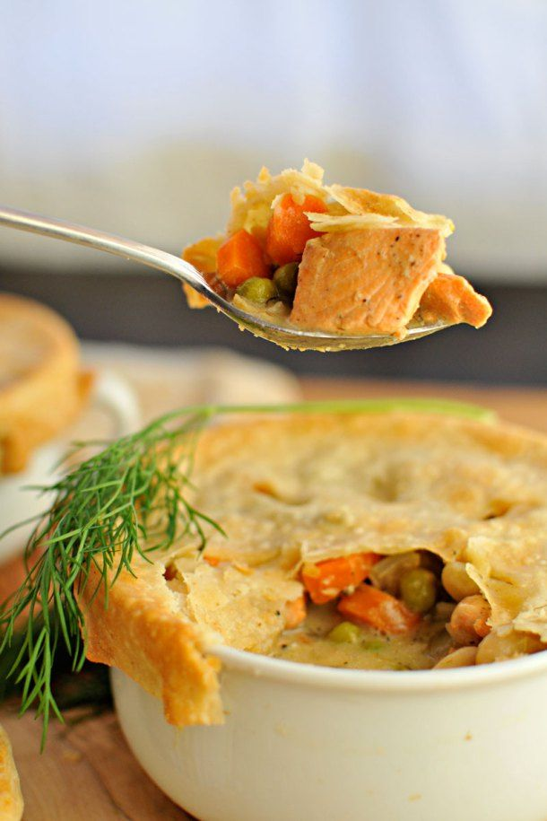 ... Salmon & White Bean Pot Pies | Bean pot, Pot pies and White beans