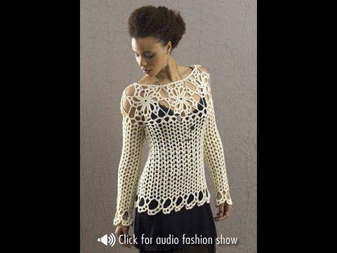 Esta Blusa não é uma Criação de Crochê Tricô. Este vídeo trata somente da explicação de como tecer o Ponto Fantasia usado nesta execução. Veja mais em: blusa...
