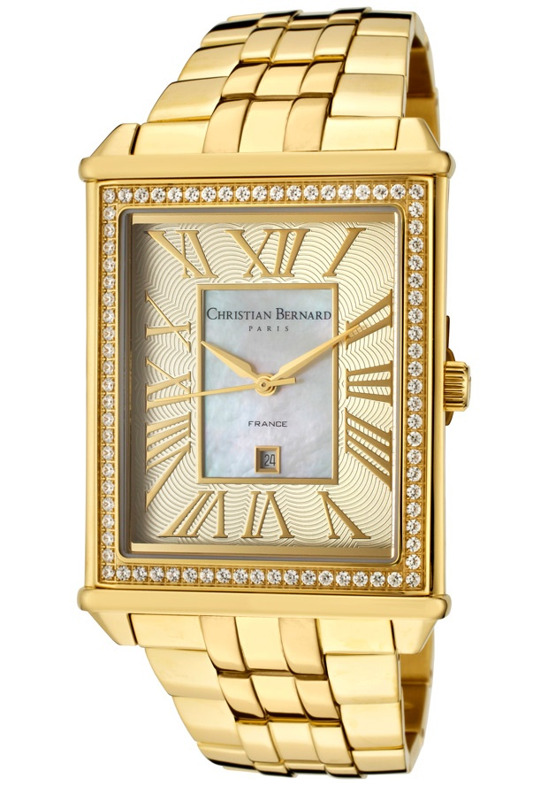 Price:$203.99 #watches Christian Bernard MT518ZWFM, Delicate combination between traditional Swiss watch spirit and parisian style.