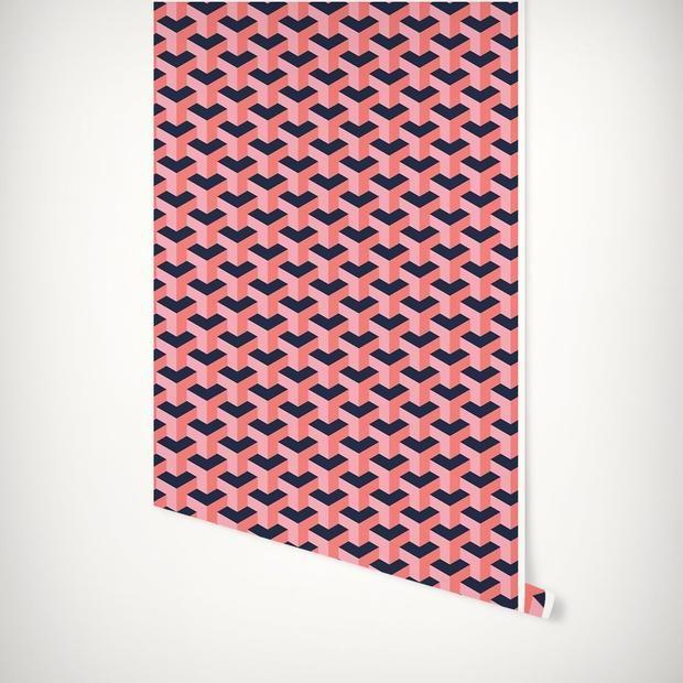 Greta Peel Stick Wallpaper In 2020 Peel And Stick Wallpaper Katie Kime Wallpaper House Wrap Around Porch
