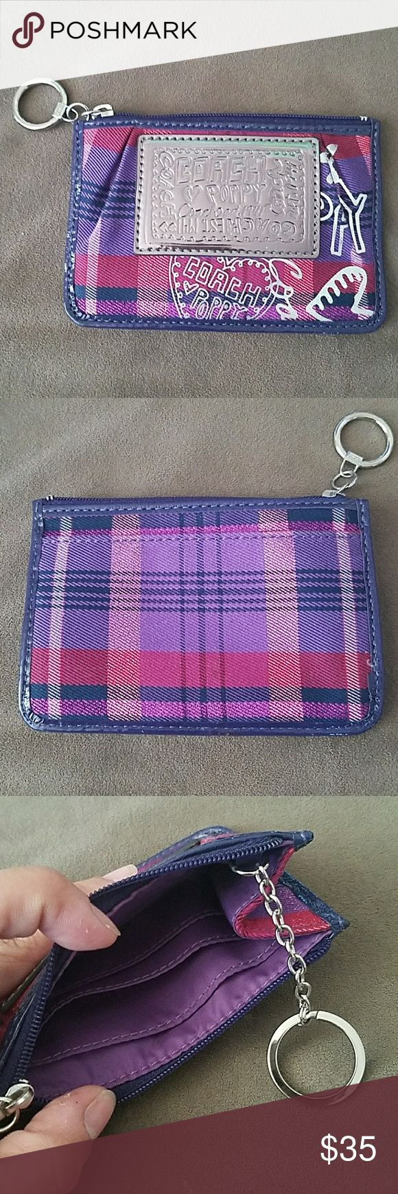 Authentic Coach Poppy keychain/card holder NWOT Authentic Coach Poppy keychain/card holder Coach Accessories Key & Card Holders
