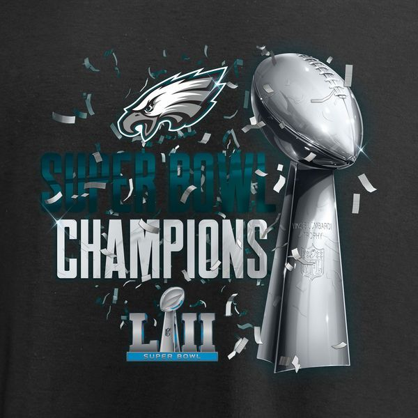 26e52367 Men's Philadelphia Eagles NFL Pro Line by Fanatics Branded Black Super Bowl  LII Champions Lombardi Parade T-Shirt - NFLShop.com