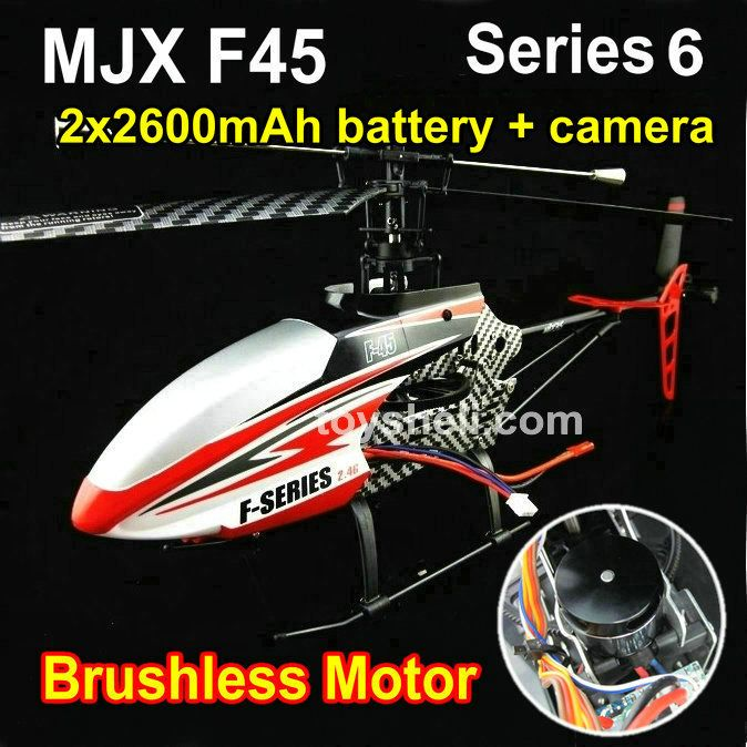 Powerful 2.4G 4 CH MJX F45 F645 rc helicopter model with Brushless Motor and 2 battery 2600mAh + Camera //Price: $233.03 & FREE Shipping //     #RCBoat