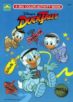 Walt Disneys DuckTales Big Color Activity Book 1987 Golden Books
