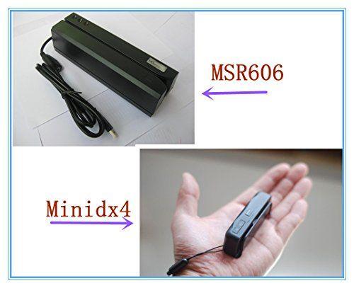 DHL Bundle Shipment MSR Msr606 MSR 606 Magnetic Stripe Card Reader Writer Encoder with Software Free + Minidx4 Magnetic Stripe Card Reader Encoder, Data Collector