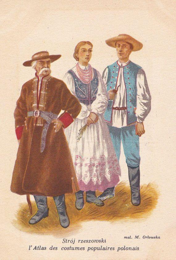 Vintage Polish Folk Costume Polish by RussianSoulVintage on Etsy