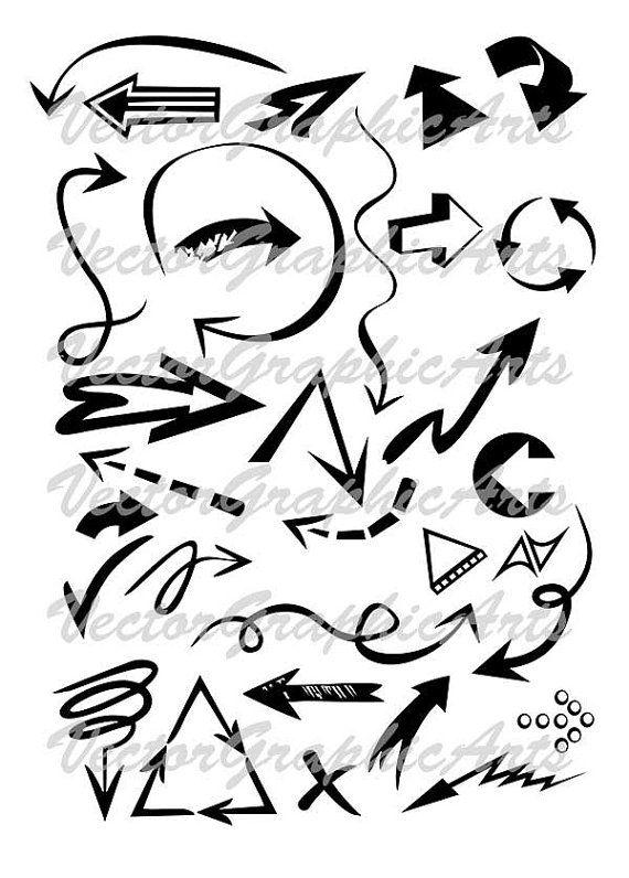 Vector clipart arrows. Digital Clipart. от VectorGraphicArts